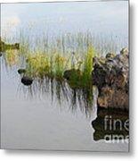Rocks In Lake Metal Print