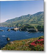 Rocks In The Sea, Carmel, California Metal Print
