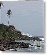 Rocks Of Kovalam Beach Kerala Metal Print