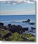 Rocks Of Lake Superior Metal Print