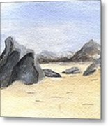 Rocks On Beach Metal Print