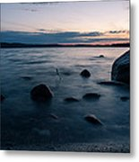 Rocks At A Shore Metal Print