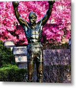 Rocky Among The Cherry Blossoms Metal Print