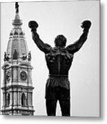 Rocky And Philadelphia Metal Print