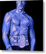 Rocky Blue Metal Print by Michael Mestas