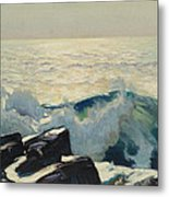 Rocky Coast And Sea Metal Print