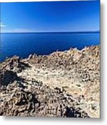 rocky coast in San Pietro island Metal Print