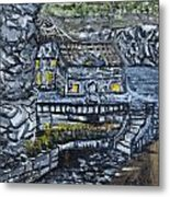 Rocky Cottage Metal Print