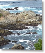 Rocky Cove Detail Metal Print