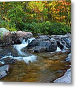 Rocky Creek Above Rocky Falls 1 Metal Print