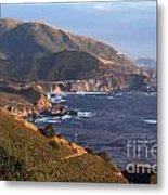 Rocky Creek Bridge In Big Sur Metal Print by Charlene Mitchell