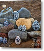 Rocky Faces In The Sand Metal Print
