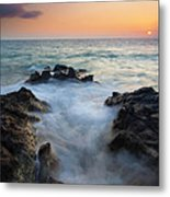 Rocky Inlet Sunset Metal Print by Mike  Dawson