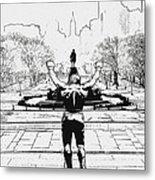 Rocky Is Philadelphia Metal Print by Bill Cannon
