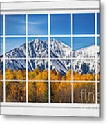 Rocky Mountain Autumn High White Picture Window Metal Print