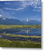 Rocky Mountain Lake Metal Print