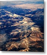 Rocky Mountain Peaks From Above Metal Print