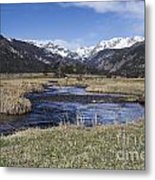 Rocky Mountain Stream Wide Angle Metal Print