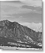 Rocky Mountains Flatirons And Longs Peak Panorama  2 Metal Print