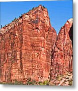 Rocky Mountains Of Zion Metal Print
