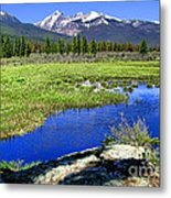 Rocky Mountains River Metal Print by Olivier Le Queinec