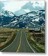 Rocky Mountains Road Metal Print