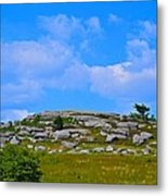 Rocky New England Hill Metal Print