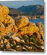 Rocky Point And Bixby Bridge Big Sur California Metal Print