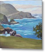 Rocky Point Big Sur Metal Print by Karin  Leonard
