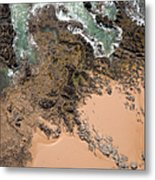 Rocky Shoreline Abstract Cape Woolamai Metal Print by Rob Huntley