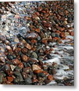 Rocky Shoreline Abstract Metal Print