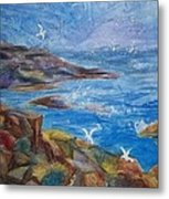 Rocky Shores Of Maine Metal Print