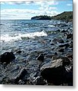 Rocky Shores Of Superior Metal Print