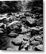 Rocky Smoky Mountain River Metal Print