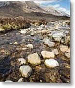 Rocky Stream From Beinn Eighe Metal Print