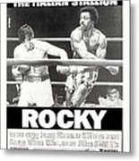 Rocky, Us Poster, Sylvester Stallone Metal Print