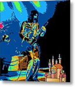 R P  And The Ufo At The Castle Made Of Sand Metal Print