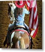 Rodeo America - Land Of The Free Metal Print