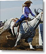 Rodeo Barrel Racer Metal Print