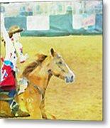 Rodeo Beauty Three Metal Print