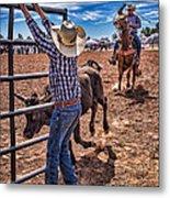Rodeo Gate Keeper Metal Print