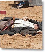 Rodeo Gunslinger Victim Color Metal Print