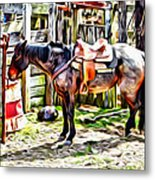 Rodeo Horse Three Metal Print