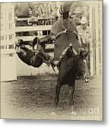Rodeo Learning To Fly Metal Print