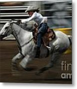 Rodeo Riding A Hurricane 1 Metal Print