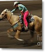 Rodeo Riding A Hurricane 2 Metal Print