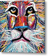 Rodney Abstract Lion Metal Print