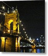 Roebling Bridge II Metal Print