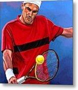 Roger Federer The Swiss Maestro Metal Print