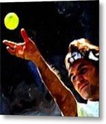 Roger Federer Tennis 1 Metal Print